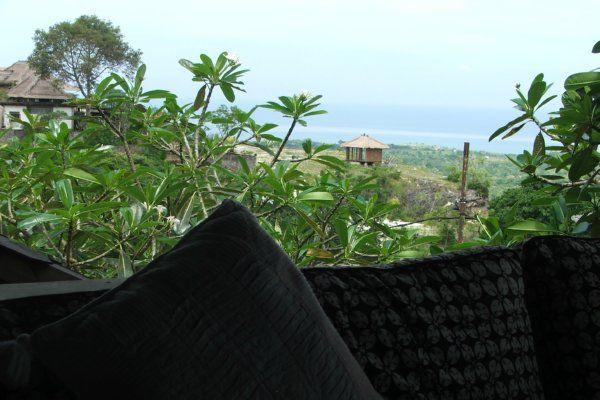 Ocean view from open Living area of Hillside Villa in Balangan Jimbaran Bali