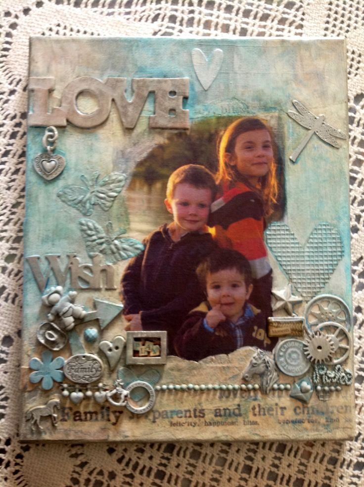"My happy art"" a siblings love"" Artist Shelley Keeble  Mixed media"