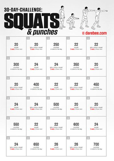Squats & Punches 30 Day Challenge.