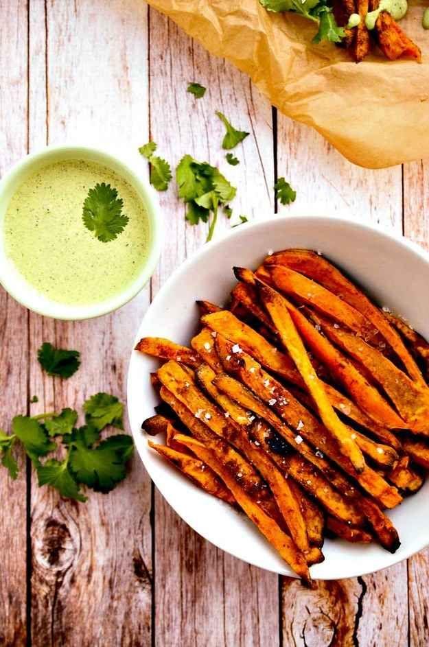 Coriander, Cinnamon And Honey Sweet Potato Fries