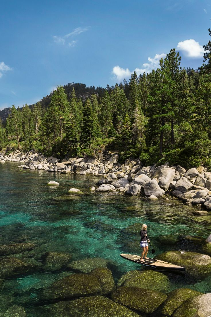 Go kayaking on Lake Tahoe | 5 Summer Getaway Ideas in Northern California & Oregon | Whatever type of traveler you area, here are some ideas for summer weekend getaways near San Francisco and Silicon Valley, California.