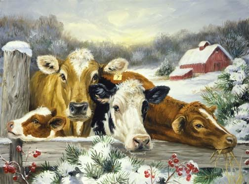 Linda Picken - 'Moo're Friendly Neighbors'