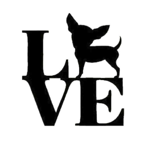 Love Chihuahua Die Cut Vinyl Decal PV744 Read at : diyavdiy.blogspot.com