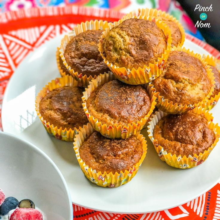 If you're on the lookout for breakfast ideas that don't use up your Healthy Extras, these Low Syn Banana and Peanut Muffins are perfect!