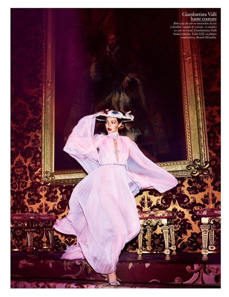 Looking pretty in pink, Gigi Hadid wears Giambattista Valli Haute Couture gown