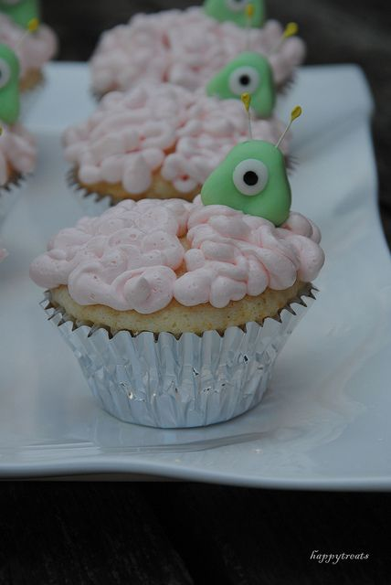 Brain Alien Cupcake