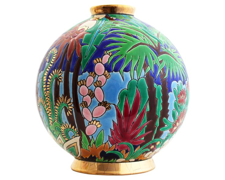 boule midi jungle editions sp ciales emaux de longwy round pretty vases pinterest vase. Black Bedroom Furniture Sets. Home Design Ideas