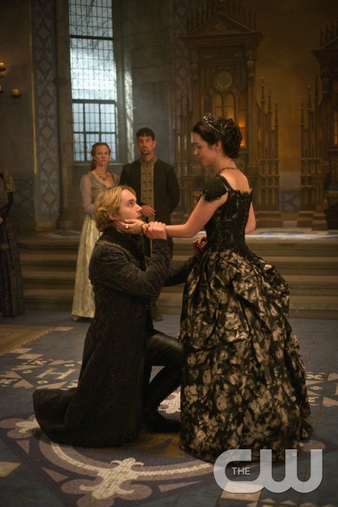 """Reign -- """"Extreme Measures"""" -- Image Number: RE303b_0202.jpg -- Pictured (L-R): Toby Regbo as King Francis II and Adelaide Kane as Mary, Queen of Scotland and France -- Photo: Sven Frenzel/The CW -- © 2015 The CW Network, LLC. All rights reserved."""