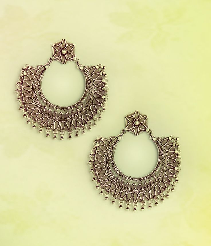 #sterling #silver #classic #bali #jhumka #earrings #jewellery #accessories #fashion #women #statement #Fabindia