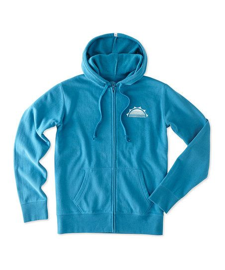 Life is Good® Denim Blue Happy Hour Go-To Zip-Up Hoodie | zulily
