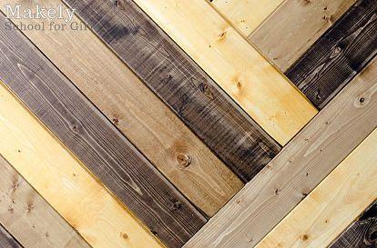 diy herringbone wood paneled wall, wall decor, woodworking projects, Close up shot of the herringbone pattern