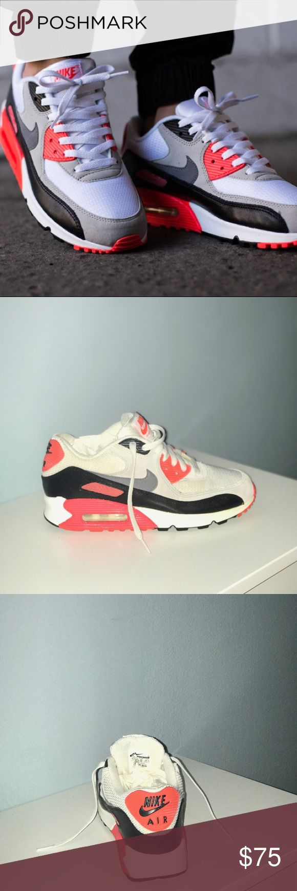 Nike Air Max 90 Infrared Size 6.5 Boys/8 Women Air Max 90 Nike Infrared Boys 6.5/Women 8 Nike Shoes Sneakers