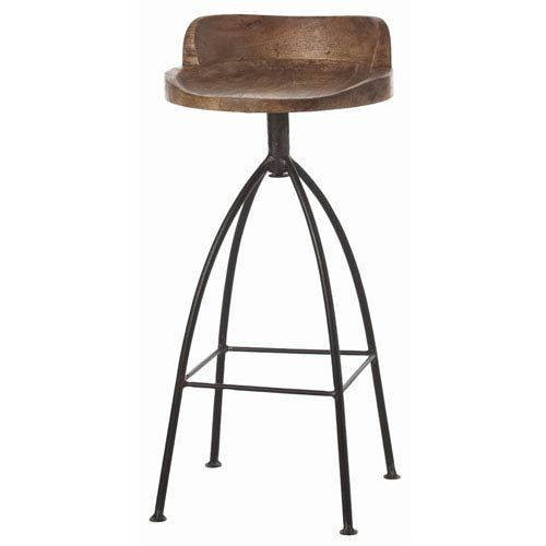 Hinkley Sandblast Antique Wax Barstool Arteriors Home Bar