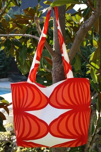 red and orange moons  tote/shoulder bag by onnaBandA on Etsy, €38.00