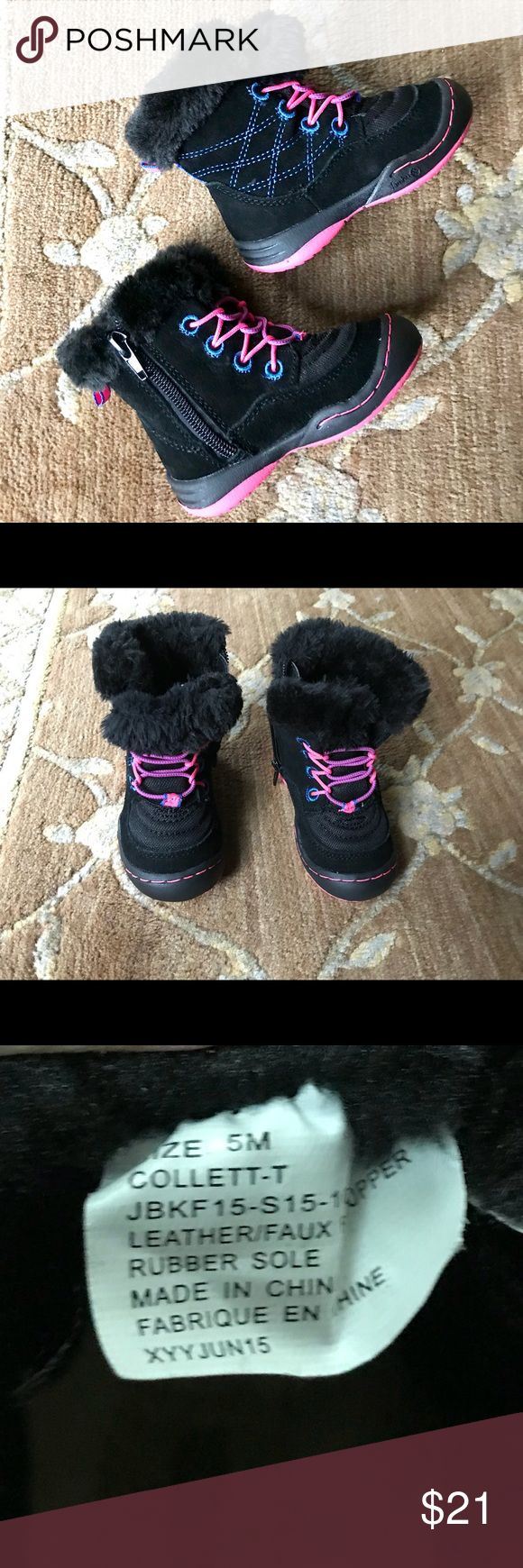Kids snow boots Kids (toddler) waterproof snow boots. Like new, worn once last year and has grown out of it. Great quality! Rubber sole, waterproof lining, insulated for warmth. Jambu Shoes Rain & Snow Boots