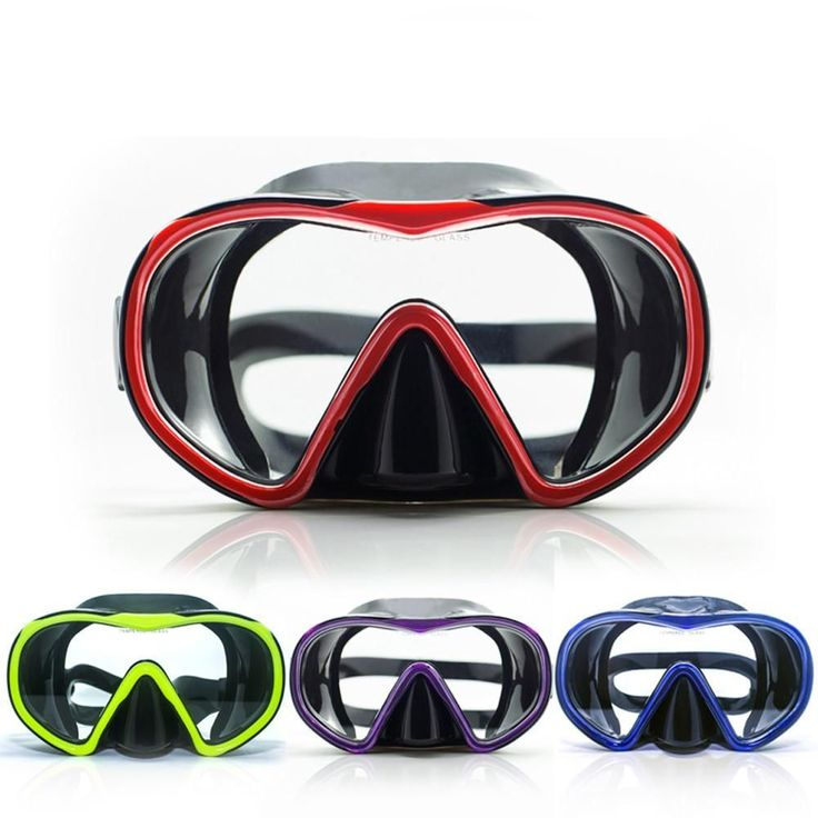 Single lens tempered glass scuba diving mask black silicone wide version snorkel mask top snorkel gear and diving equipment
