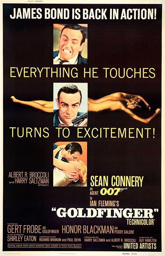 GoldfingerJames Of Arci, Jamesbond, Movie Posters, Goldfinger 1964, James Bond, Favorite Movie, Sean Connery, Bond 007, Bond Movie