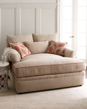 oversize chase love seat, perfect for bedroom, for reading