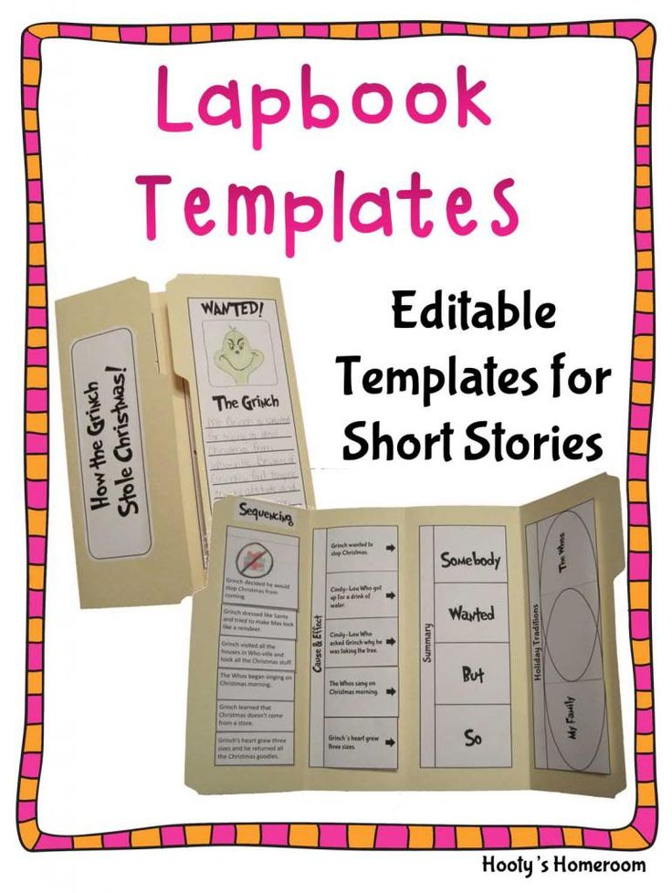 book report lapbook template - 28 images - 17 best images about ...