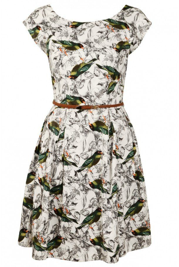 Louche Julita-Bird Print Dress