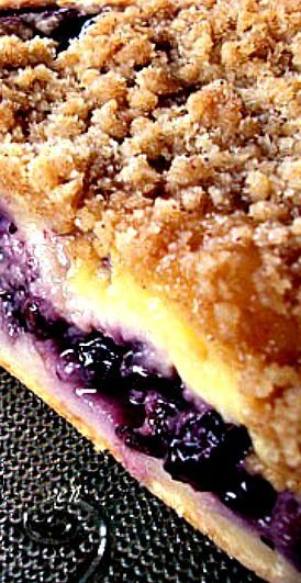 Creamy Blueberry Pie Recipe: This one made it into the recipe box.  Loved it!  Can't wait to try it again with lemon added to the custard.