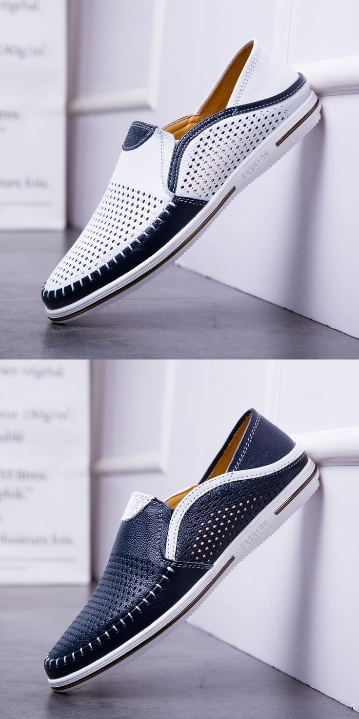 Prelesty Soft Light Men Cow Leather Loafer Shoes Smart Formal Handmade Stitching
