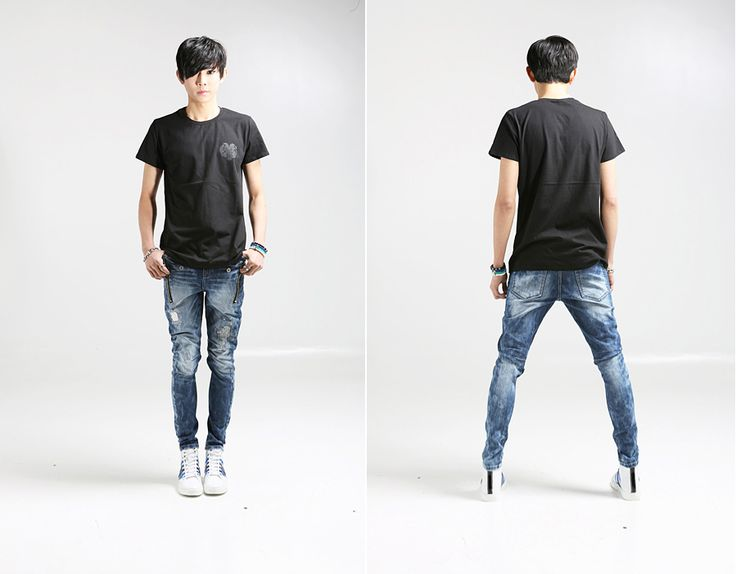skinny ripped jeans for men - Jean Yu Beauty