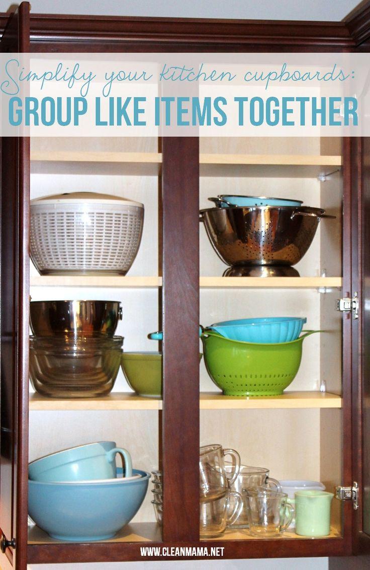 Simple Ways To Organize Kitchen Cupboards