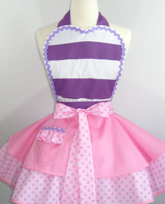 Doc McStuffin Inspired Apron by FlirtyandFunAprons on Etsy, $65.00