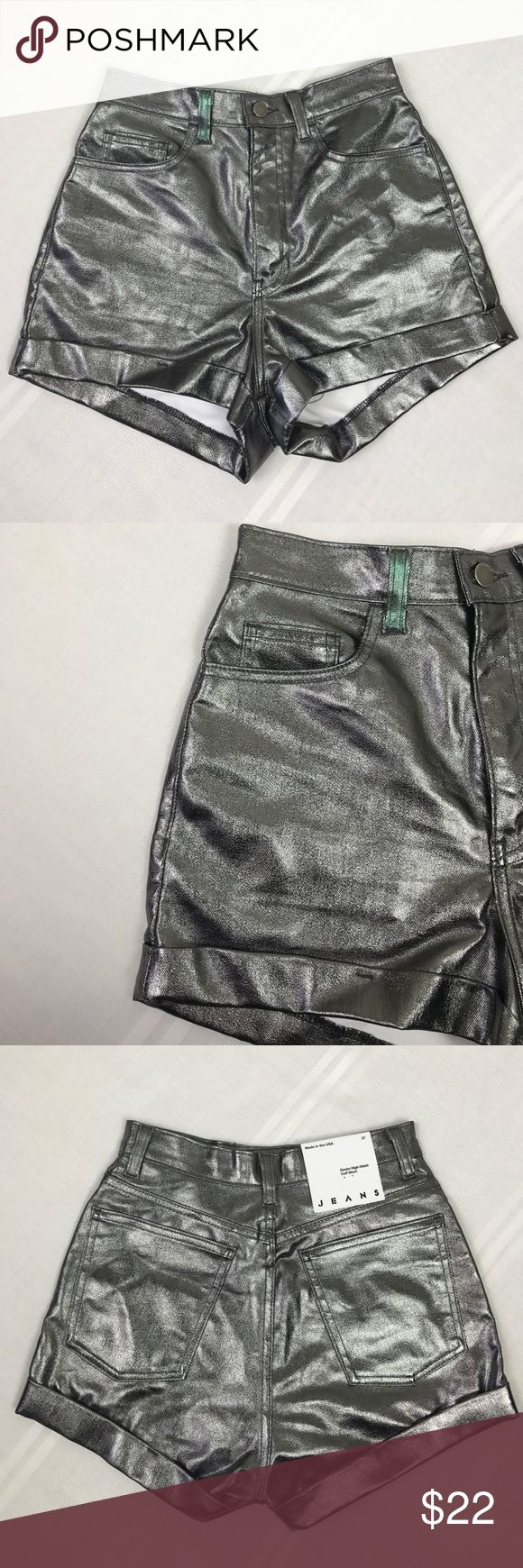 American Apparel Denim High Cuff Shorts Size 27 American Apparel Jeans Denim High-Waist Cuff Shorts Size 27 American Apparel Shorts Jean Shorts