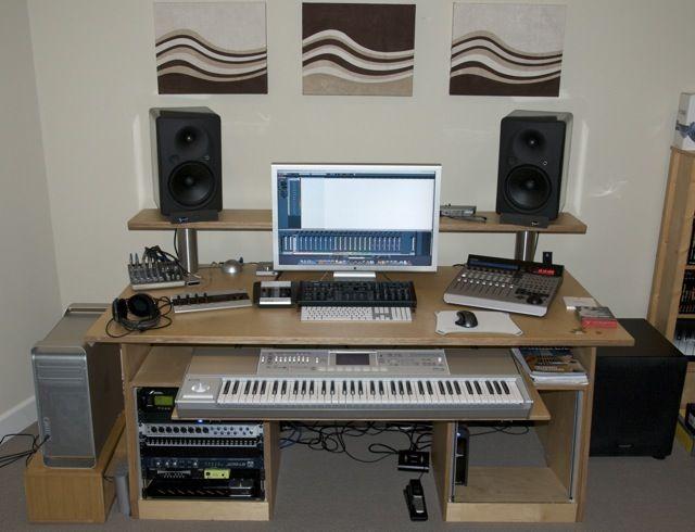 DAW desk   Home studio setup, Music studio room