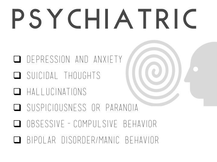 Lyme Disease - psychiatric symptoms  www.lymeandthecity.org
