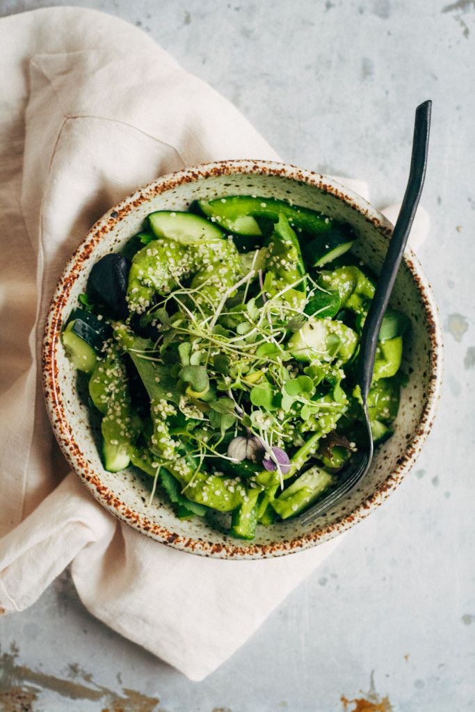 Super Green Detox Salad | Well and Full | #vegan #detox