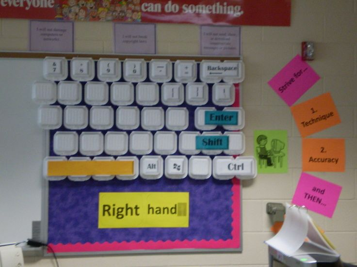 154 best computer class decorations images on pinterest for Decoration keyboard