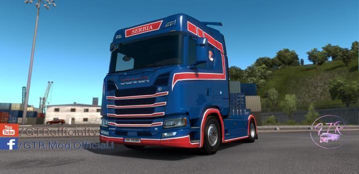 ETS2 - Scania S Next Gen Serbia Skin V1 (1 34 x) | Truck