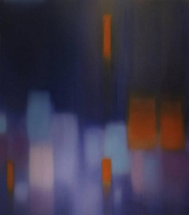 Julian Jackson, Aura (Midnight), 2011  Oil on canvas, 82 x 72 in (208.3 x 182.9 cm)  Markel Fine Art