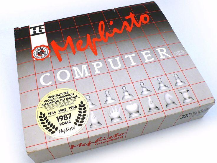 MEPHISTO Mondial II Schachcomputer OVP - cyan74.com vintage and pop culture online shop Switzerland Swiss Suisse Schweiz worldwide shipping