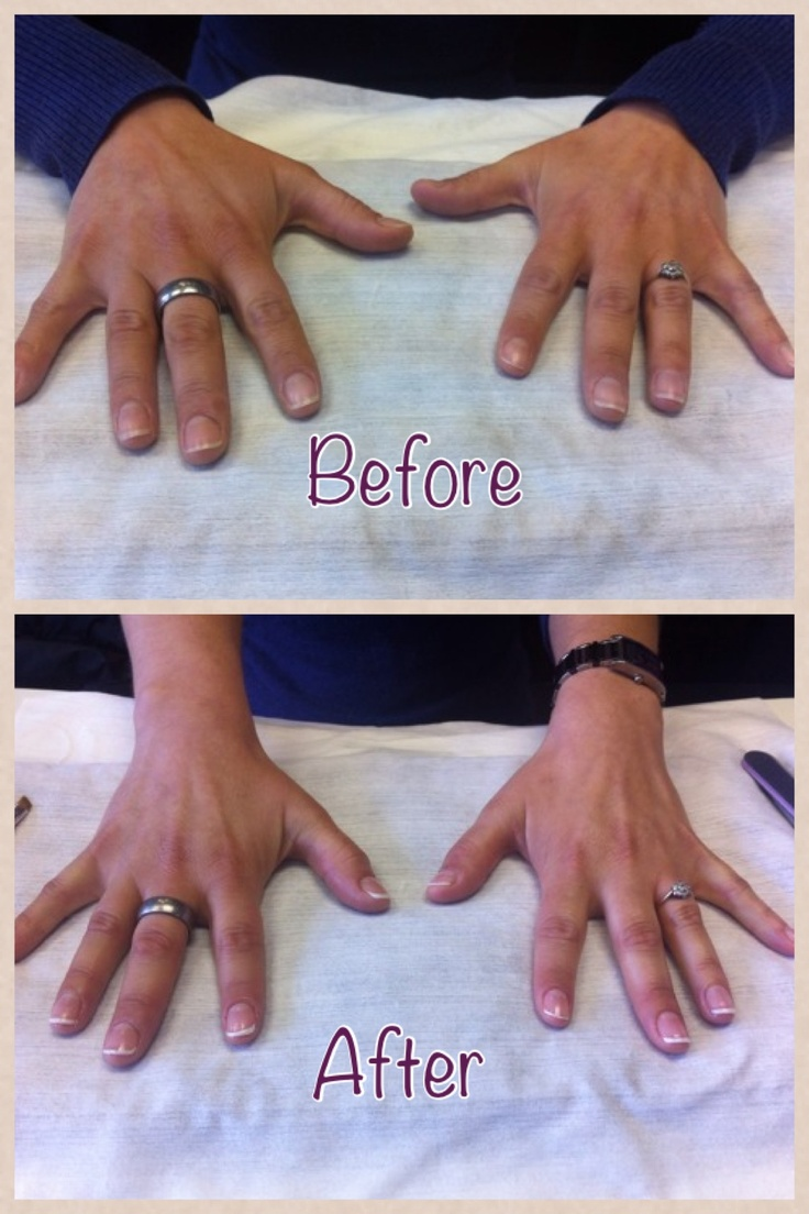 Lovely French Shellac Manicure
