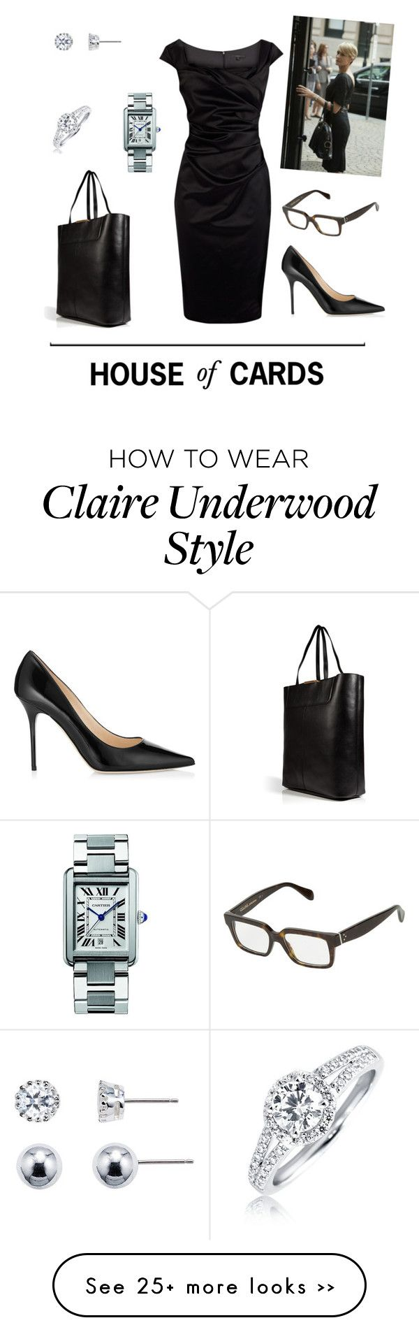 """""""House of Cards - Claire Underwood"""" by tsilyts on Polyvore"""