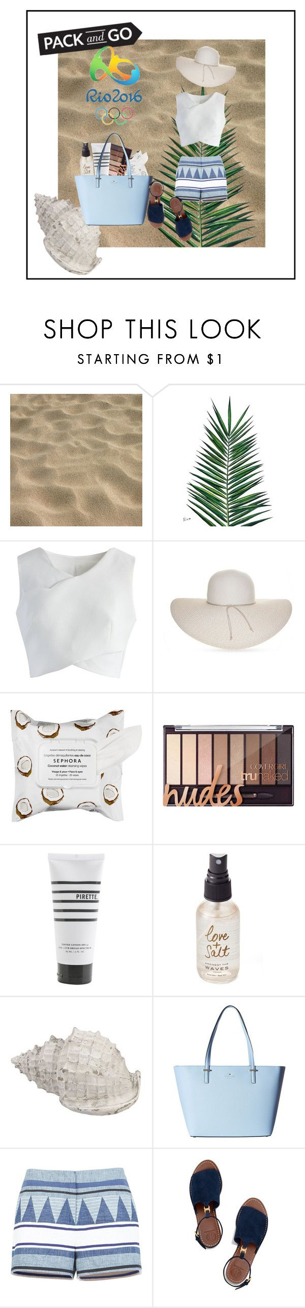 """Rio - Pack and GO!"" by ludmilisima on Polyvore featuring moda, Nika, Chicwish, Nine West, Sephora Collection, Pirette, Olivine, Kate Spade, BCBGMAXAZRIA y Tory Burch"