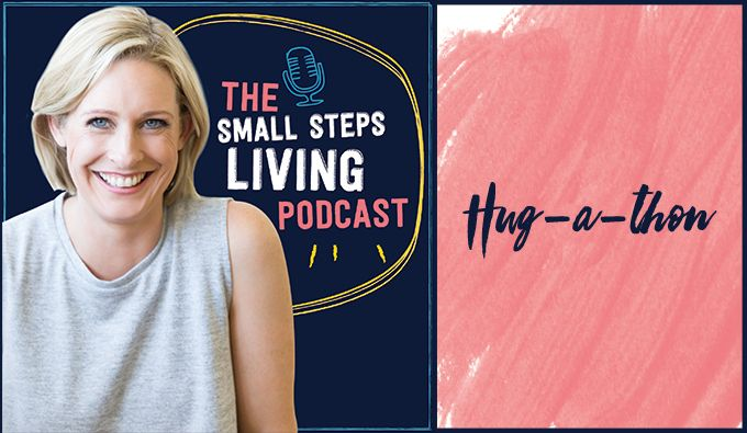 In this episode, Lisa and Nick talk about the power of a simple hug (as part of a challenge given to the Small Steps Living members) – to reduce stress and create a sense of unity in your relationship(s). Subscribe to the weekly podcast on iTunes or Stitcher Prefer to...