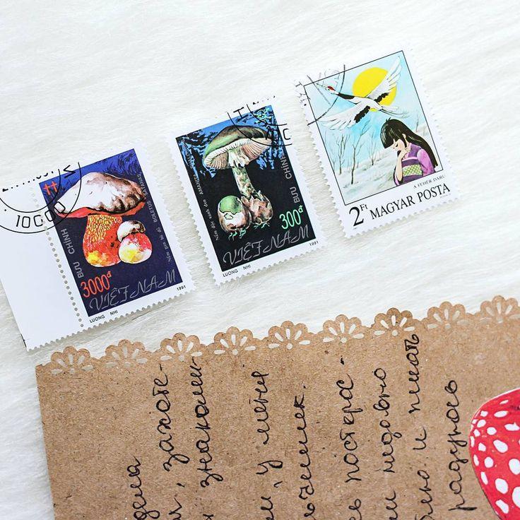 #postagestamp #philately Я всегда очень радуюсь, когда друзья по переписке присылают мне марки, благодаря чему уже собралась большая коллекция красоты с разных стран :) Огромное спасибо, Вера!