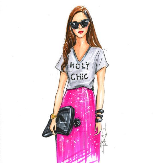 Fashion illustration sketch,Fashion art,Fashion illustration,Chic wall art, Fashion print,fashion poster,Titled,Holy Chic