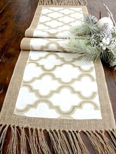 Rustic  Table Runner  Antique Gold Byzantine by HotCocoaDesign, $33.00