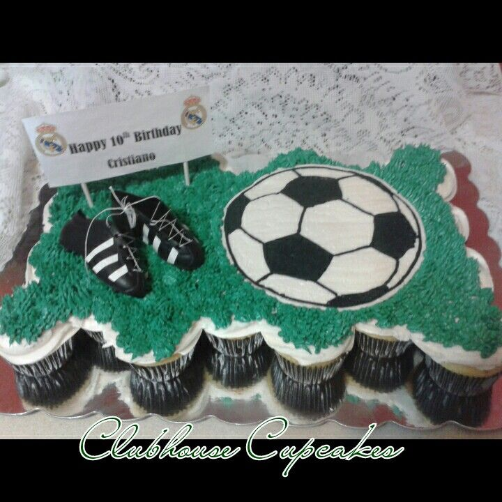 football cupcake cake clubhouse kitchen football pull apart cupcake cake soccer 4308