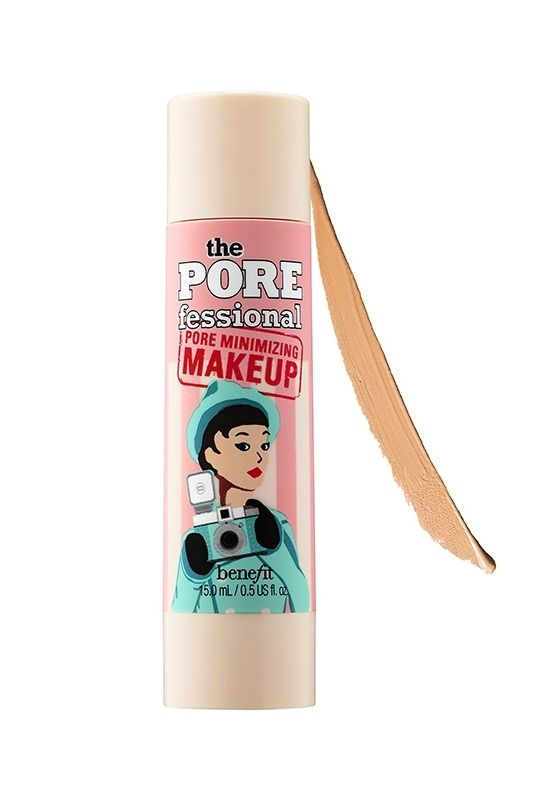 Benefit's Porefessional foundation will make your pores invisible. This is one of our favorite foundations and  beauty products as of late