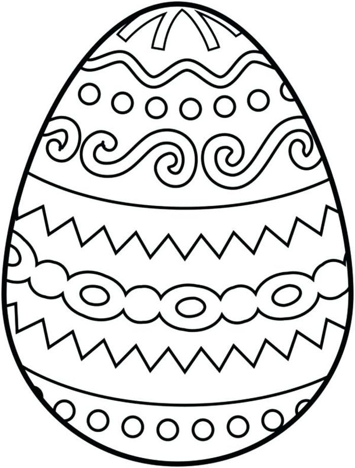 Easter Egg Coloring Pages For Kids In 2020