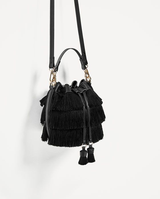 ZARA - TRF - MINI BUCKET BAG WITH FRINGE