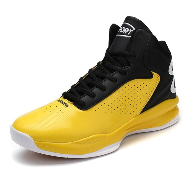 High Top Leather Basketball Shoes Men Outdoor Sport Shoes Summer Breathable Cushioning Basketball Boots Male Gym Game Sneakers Moda Sneakers, Sneakers For Sale, Buy Sneakers, High Top Basketball Shoes, Sports Shoes, Basketball Sneakers, Men's Basketball, Buy Shoes, Men's Shoes