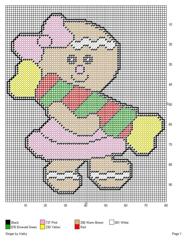 GINGER *HOLDING A PIECE OF CANDY* by KATHY -- WALL HANGING